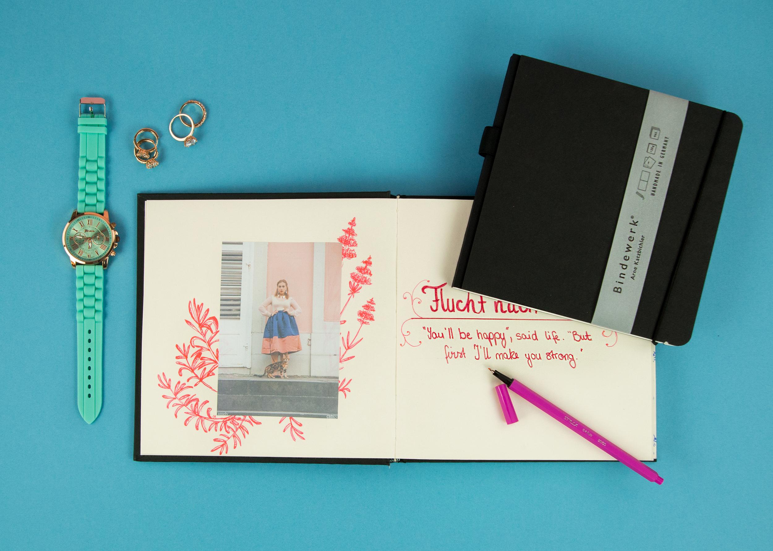 Amely Rose zeigt eine Anleitung oder how to bullet journal und doodle in ihrem bindewerk notizbuch