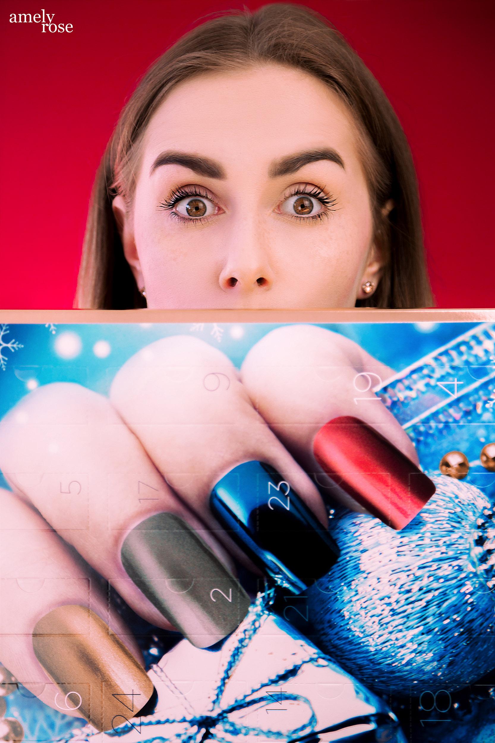 Amely Rose, german influencer und deutscher fashionblog zeigt die dobner adventskalender gefüllt mit kosmetik