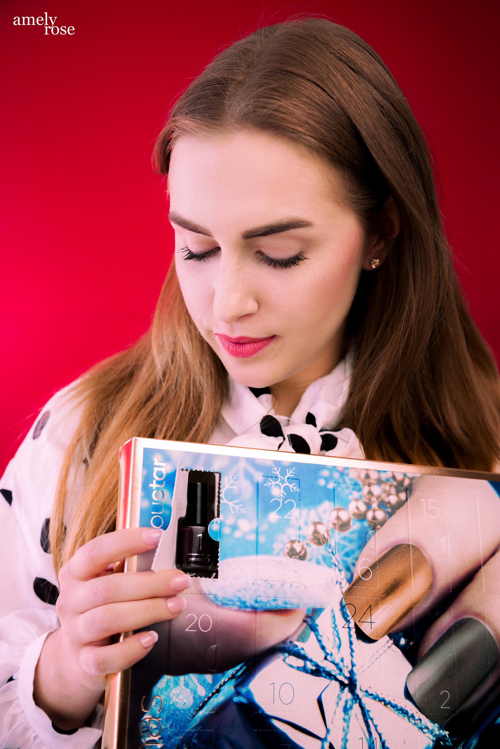 Amely Rose, german influencer und deutscher fashionblog zeigt die dobner adventskalender gefüllt mit kosmetik.