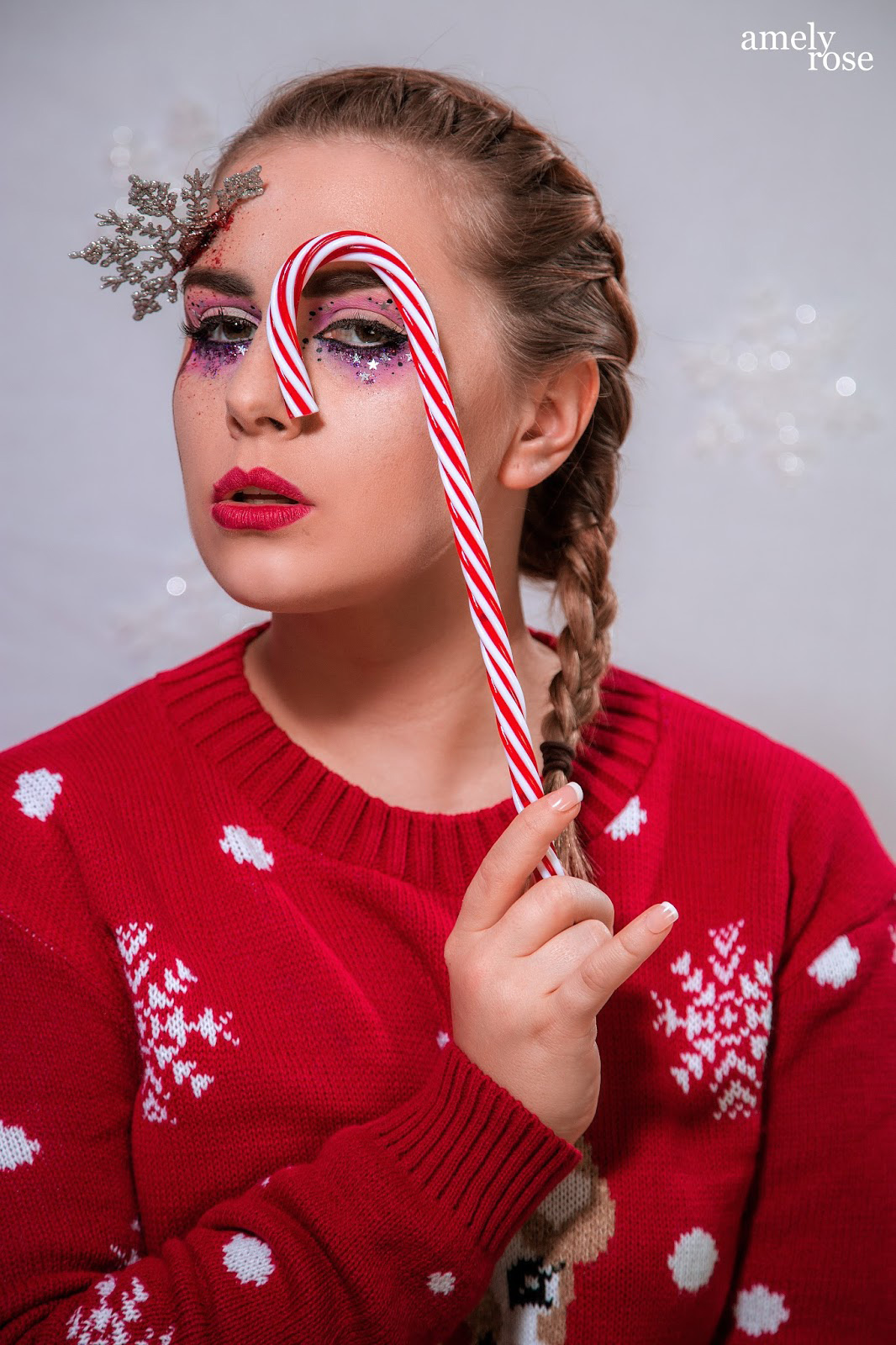 Amely Rose, german influencer und deutscher fashionblog christmas makeup tutorial horror sfx Amely Rose, german influencer und deutscher fashionblog christmas makeup tutorial horror sfx
