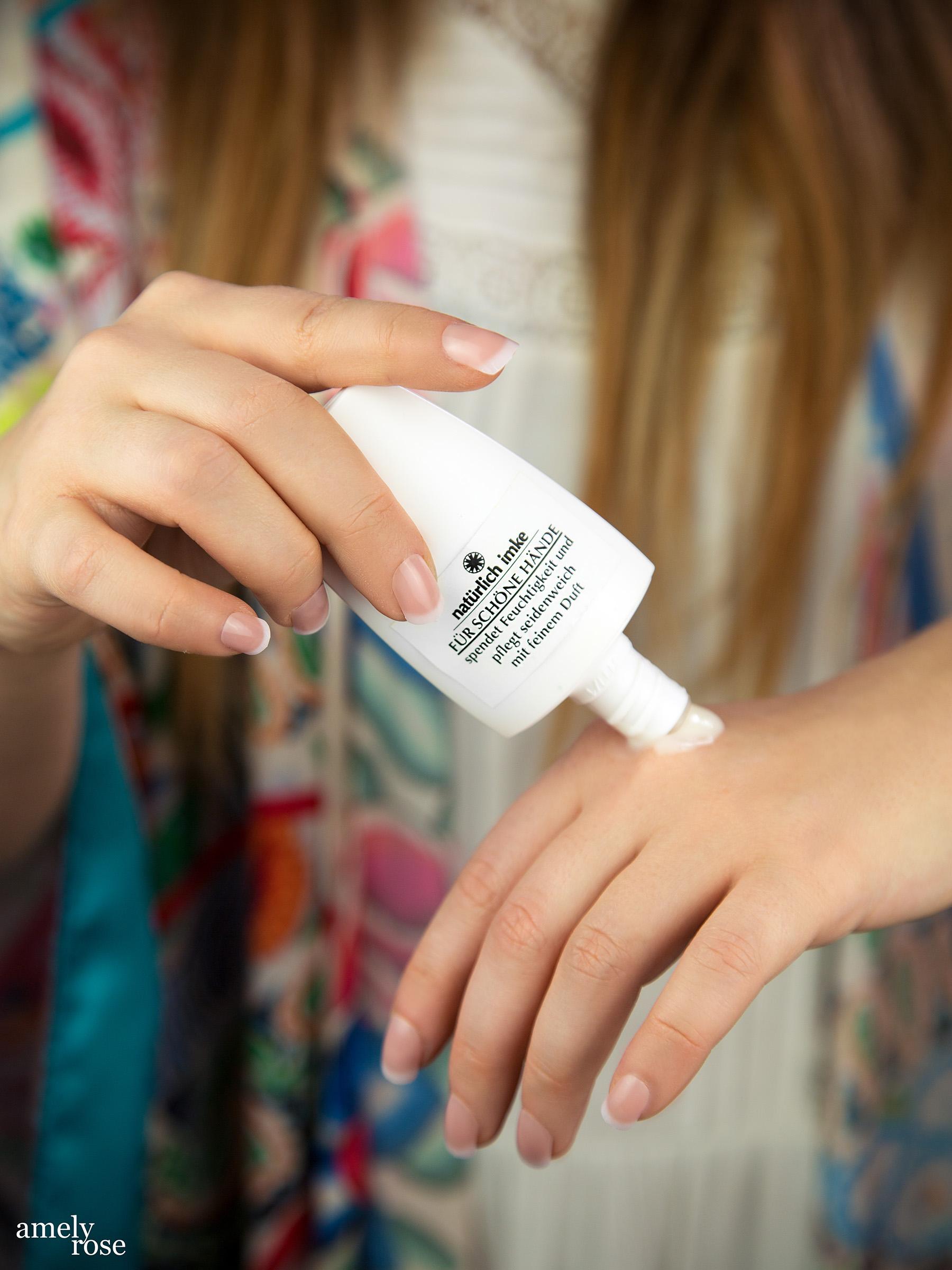 amely rose beautyblogger handcreme handpflege beautyprodukte natürlich imke naturkosmetik