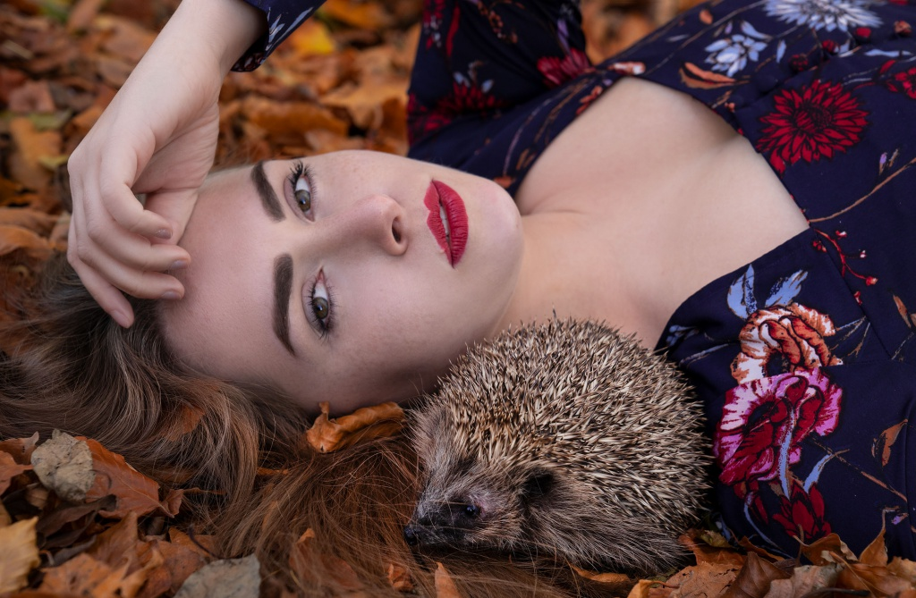 autumn, autumnlook, autumnfashion, autumnportrait, portrait, pet, petportrait, pet portrait, igel, hedgehog, sonic, autumndress, amelyrose, amely rose, amely_rose, herbst, herbstmode, autumnfashion, autumn fashion,